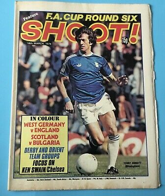 £3.85 • Buy Shoot Magazine 18th March 1978  Derby County, Orient, Kenny Swain, Peter Barnes