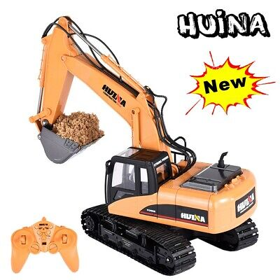 Remote Control Digger RC Kids Xmas Toy Excavator Truck Controlled Construction • 47.99£