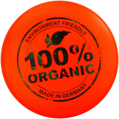 Eurodisc 175g Ultimate Frisbee Flying Disc 98% ORGANIC MATERIAL - BRIGHT ORANGE • 16.31£