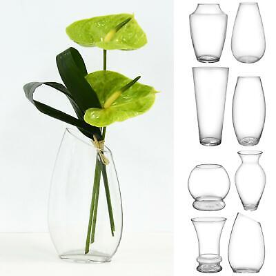£9.99 • Buy SECONDS Clear Glass Flower Vase Bouquet Display Bud Cocoon Posy Globe 18-35cm