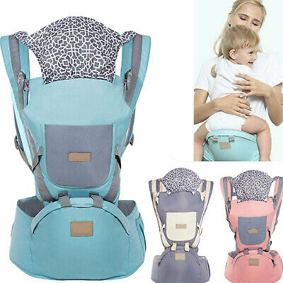Ergonomic Infant Baby Carrier With Hip Seat Stool Adjustable Wrap Sling Backpack • 17.98£