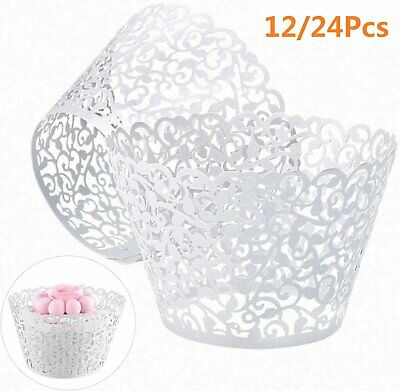 £2.98 • Buy Lace Laser Cut Cupcake Wrapper Wraps Cases Filigree Vine Baking Cup Muffin UK