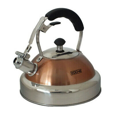 £22.09 • Buy Voche® Copper 3.5l Stainless Steel Whistling Kettle For Gas & Electric Hobs