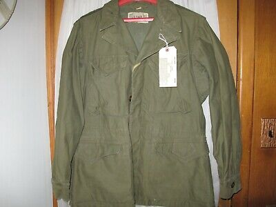 $135.94 • Buy WW2 US Military Field Jacket M1943 Olive Cotton Outer Shell 34R