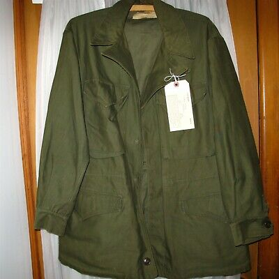 $155.94 • Buy WW2 US Military Field Jacket M1943 Olive Cotton Outer Shell 36R