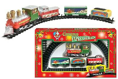 Christmas Express Train Toy Set Track Carriages Santa Tree Decoration Xmas Kids • 3.99£