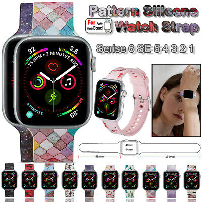 AU14.99 • Buy For Apple Watch Band Series 6 SE 5 4 3 Pattern Silicone IWatch Sport Strap