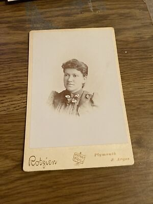 AU6.38 • Buy Antique Cabinet Card Photo Rotzien, Plymouth7 Argos, Woman, Short Hair