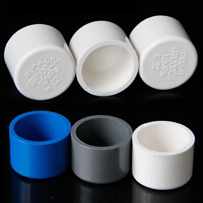 20mm-110mm Inner Dia PVC End Cap Cover Water Supply Pipe Fittings Plug Connector • 5.79£