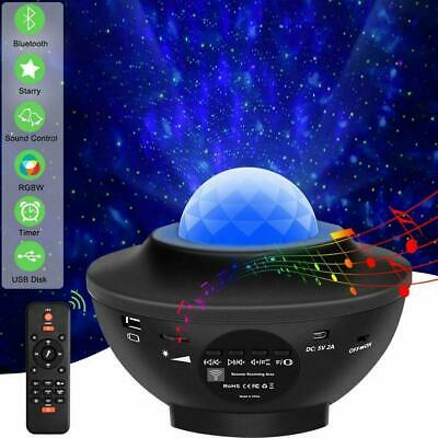 USB Galaxy Star Night Lamp LED Starry Sky Projector Light Ocean Wave Remote Gift • 23.82£