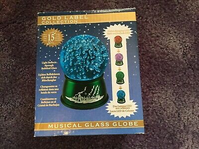 Bnib Christmas Colour Changing Led Musical Glass Globe • 8.99£