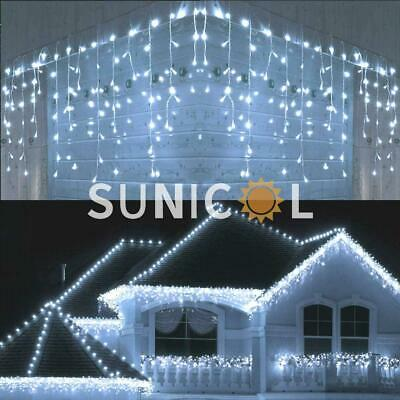 3/4/5M LED Meteor Icicle Party Wedding Christmas Outdoor String Fairy Lights UK • 10.99£