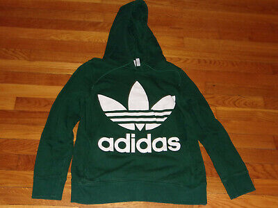 $ CDN1.29 • Buy Adidas Trefoil Long Sleeve Dark Green Hoodie Womens Small Excellent Condition