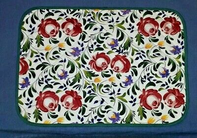 PORTMEIRION 3 WELSH DRESSER QUILTED PLACEMATS - Unused • 12£