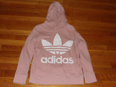 $ CDN1.29 • Buy Adidas Trefoil Long Sleeve Light Pink Hoodie Womens X-small Excellent Condition
