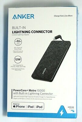 AU23.84 • Buy Anker PowerCore+ 10,000 MAh Portable Charger With Built In Lightning Connector