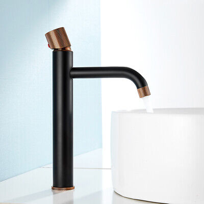 Antique Bathroom Basin Mixer Taps All Brass Tall Counter Top Cloakroom Faucets • 35.59£