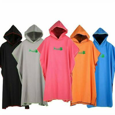 Changing Robe Towel Poncho Hooded Adults Beach Kitesurf Surfing Swimming Towel • 15.89£