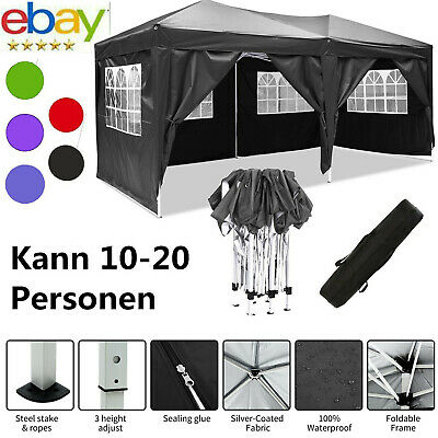 £279.99 • Buy Heavy Duty Gazebo Marquee Strong Waterproof Garden Patio Party Tent With 4 Sides
