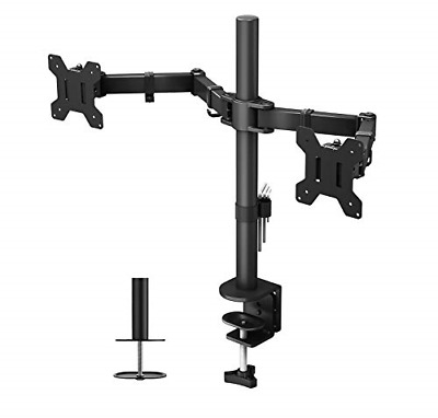 BONTEC Dual Monitor Mount For 13-27 Inch LCD LED Monitor Computer PC Screens, • 37.58£