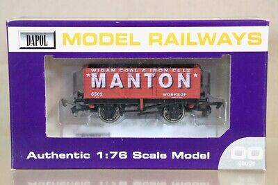 DAPOL MANTON WIGAN WORKSOP 7 PLANK COAL WAGON 6502 LIMITED EDITION Ny • 24.50£