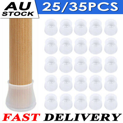 AU12.99 • Buy 25/35PCS Table Feet Cover Chair Leg Silicone Caps Pad Furniture Floor Protectors