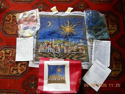 Ehrman Starry Night Part Completed Tapestry Candace Bahouth Cushion • 75£