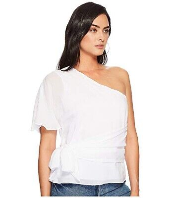$ CDN44 • Buy 1.STATE Anthropologie 126$ One-Shoulder Wrap Top Size XS White