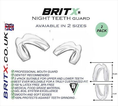 2 X BRITX Dental Mouth Guards For Bruxism Teeth Night Guard,Grinding Teeth,TMJ  • 3.99£