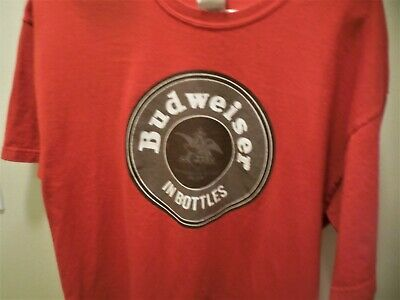 $ CDN9 • Buy Budweiser Pre-Owned T Shirt,Red, Size L, Larger Beer 100% Cotton