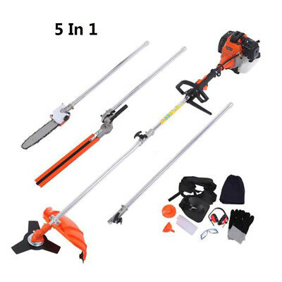 View Details 5 In 1 52cc Petrol Hedge Trimmer Chainsaw Brush Cutter Pole Saw Outdoor Tools SW • 139.98£