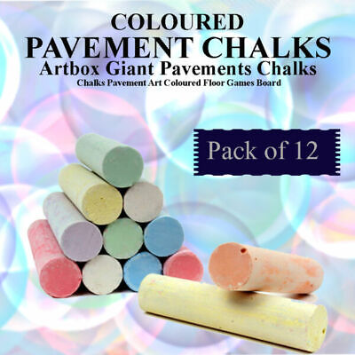 Approved Safe Chalk Coloure For Kid Small Giant Chalk Pavement Chalk School Home • 2.67£
