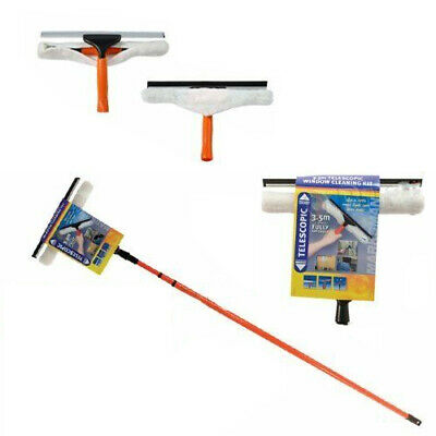 New 3.5m Telescopic Window Cleaner Kit Glass Expandable Cleaning Squeegee Metre • 11.99£