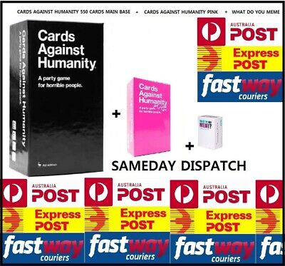 AU65.95 • Buy Cards Against Humanity Main Base + Pink + What Do You Meme Party Game Express
