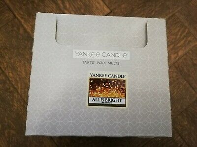 YANKEE CANDLE New Box Of 24 Wax Tart Melts (ALL IS BRIGHT)  • 13.50£