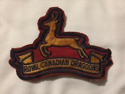 Nice Old Poss WW2 Era Royal Canadian Dragoons Canada Military Patch Badge • 0.99£