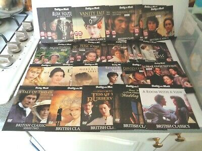 19 Daily Mail British Classics(27 Discs)Bleak House/Wuthering Heights/Emma,etc • 1.99£