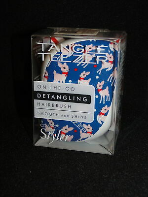 New TANGLE TEEZER Compact Styler DEER Print On The Go  Detangling Brush Compact • 4.99£