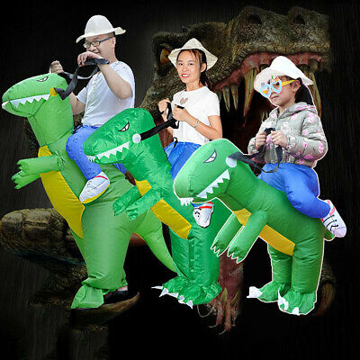 Inflatable Dinosaur Costume Jurassic Fancy Dress Costume Outfit Adult Kids S/M/L • 15.99£