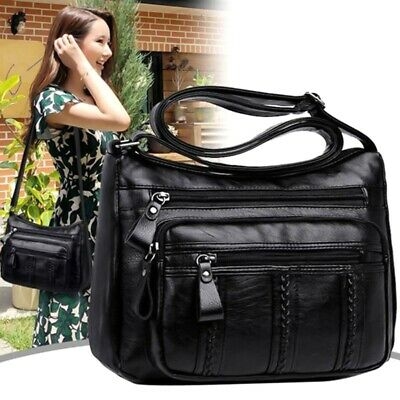AU12.14 • Buy Women Leather Shoulder Bags Ladies Handbag Cross Over Messenger Bag Purse
