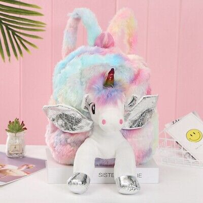AU17.48 • Buy Kids Girl Unicorn Backpack Doll Rucksack Back To School Handbag Outdoor Bag