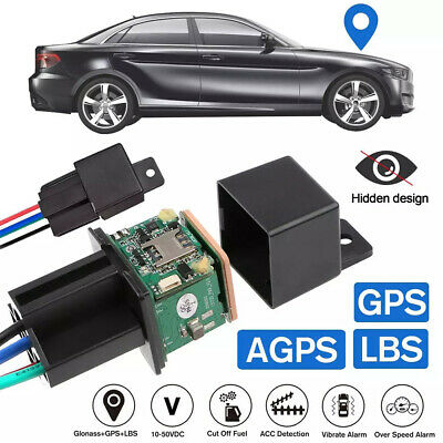 Car Tracking Relay GPS Tracker Device GSM Locator Remote Control Anti-theft UK • 14.95£