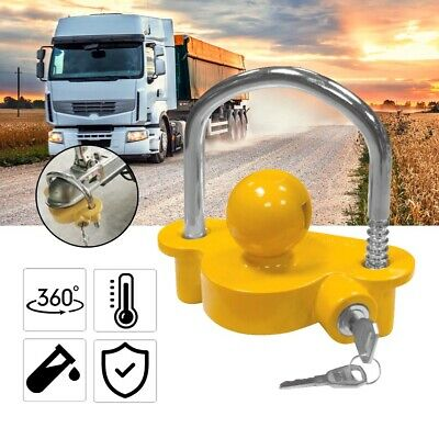 AU21.99 • Buy Trailer Parts Coupling Lock Universal Hitch Tow Ball 2 Keys Caravan  Antitheft