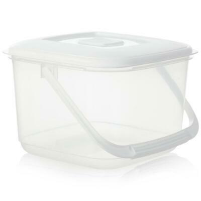 6L Clear Plastic Food Storage Container Box With Lid Large BPA Free Tupperware • 7.99£