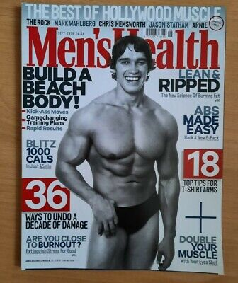 Men's Health UK Magazine Sept 2018 New Back Issue Arnold Schwarzenegger • 3£