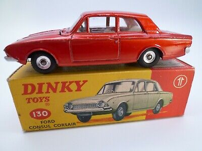 Vintage Dinky 130 Ford Consul Corsair In Original Box Issued 1964-66 • 51£