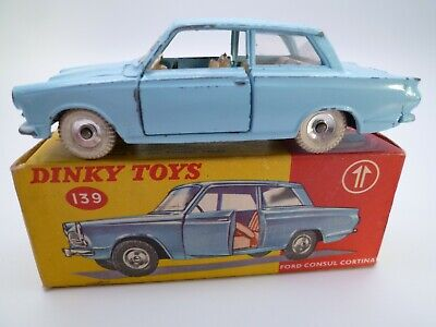 Vintage Dinky 139 Ford Consul Cortina In Original Box Issued 1963-64 • 16.14£