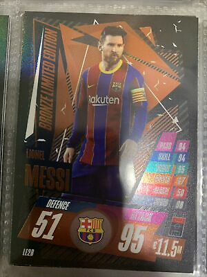 Match Attax 2020/21 Lionel Messi Bronze Limited Edition Le2b • 0.50£