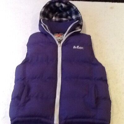 £5.49 • Buy  LEE COOPER -BODY WARMER/GILET+ HOOD  13yrs =32-34in CHEST-POLYESTER.-PURPLE-VGC