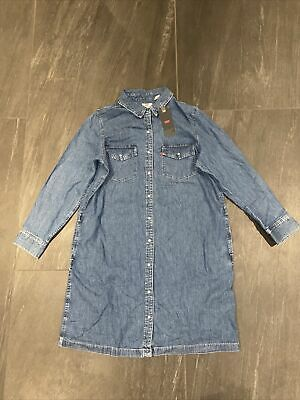 Levis Selma Denim Dress Going Steady In Large (14) BRAND NEW • 49.99£